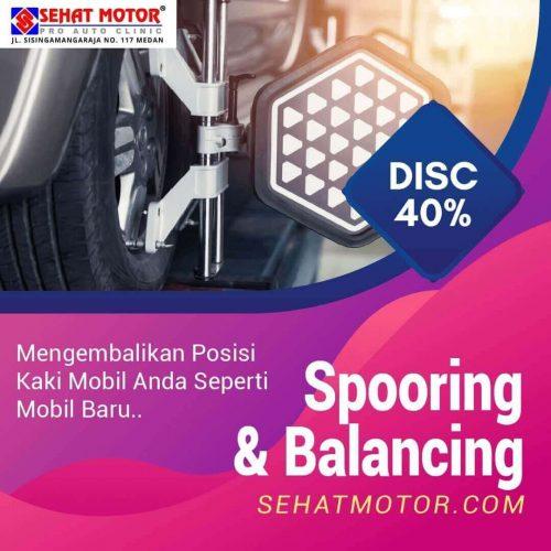 promo spooring & balancing mobil medan