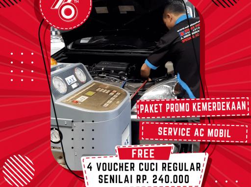promo paket kemerdekaan service ac mobil medan